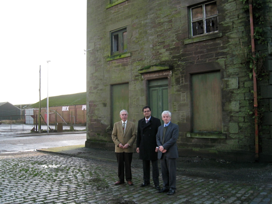 Sanjay Samani with Terry Wood, Montrose Harbour Board and Cllr David May