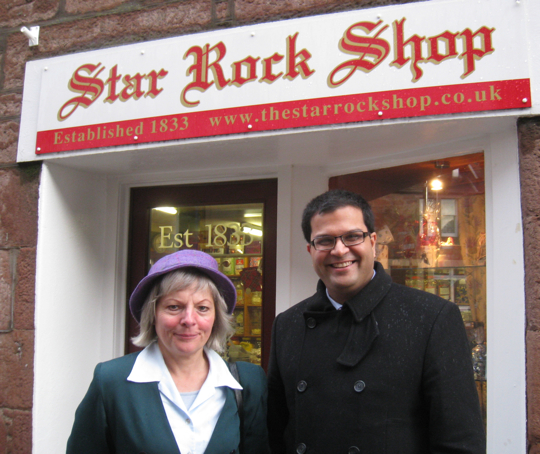 Sanjay visiting The Star Rock Shop