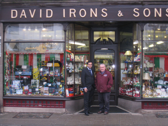 Sanjay visiting David Irons & Sons