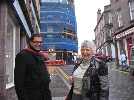 Sanjay visiting Brechin