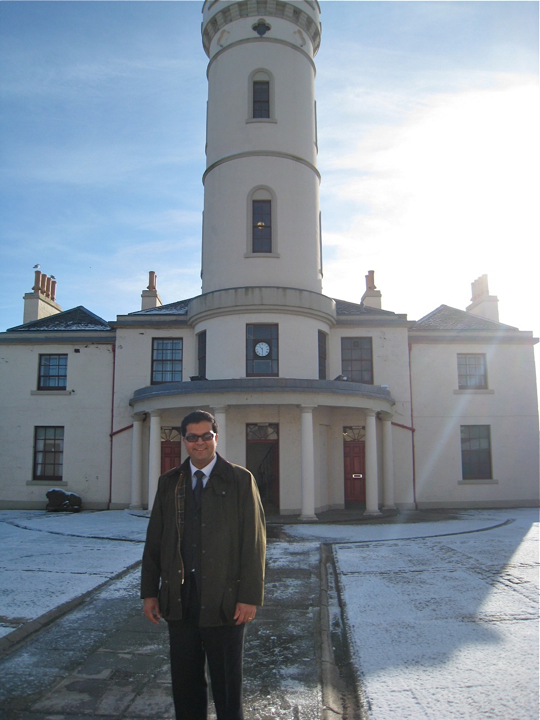 Sanjay visiting Arbroath's Signal Tower Musuem