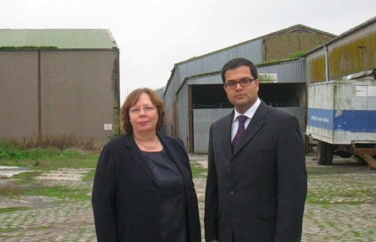 Sanjay visiting Montrose Harbour with Alison McInnes MSP