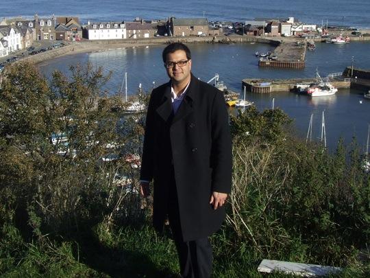 Sanjay Samani visiting Bervie Braes
