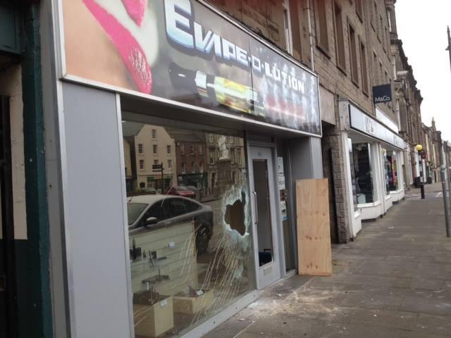 Montrose Legal High Shop after break in